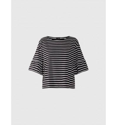 Emme Marella Varano t-shirt in jersey di cotone rigato