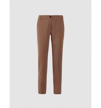 Emme Marella Yak pantalone in raso cotone stampato