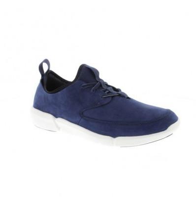 Clark's Triflow form scarpa uomo nabuk blu