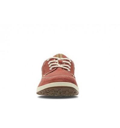 Clark's Norwin Vibe scarpa uomo allacciata in tessuto rosso