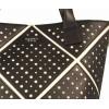 Tosca Blu Zoe shopping bag bicolor in pvc forato con tracolla