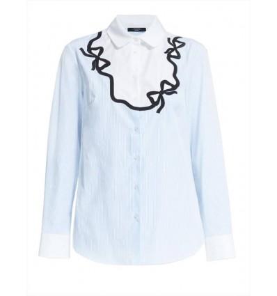 Max Mara Weekend Liriche camicia donna in popeline di cotone decorata