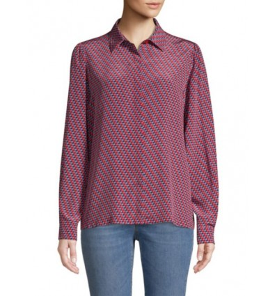 Max Mara Weekend Pulcino camicia da donna in seta stampata e jersey