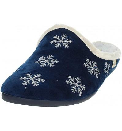 Grünland pantofola da donna con stampa fiocco di neve