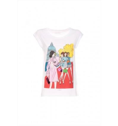 Luckylu t-shirt canotta da donna in cotone stampa Venezia