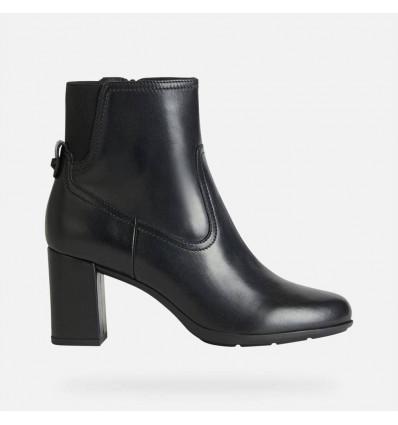 Geox New Annya scarpa tronchetto da donna in pelle con tacco